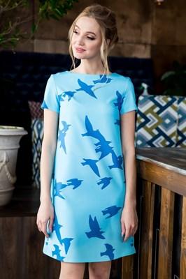 63-07 Платье с птицами - фото 6185