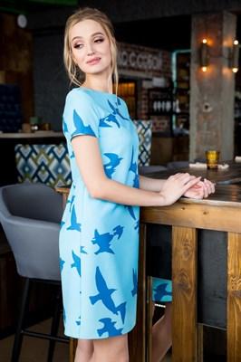 63-07 Платье с птицами - фото 6186