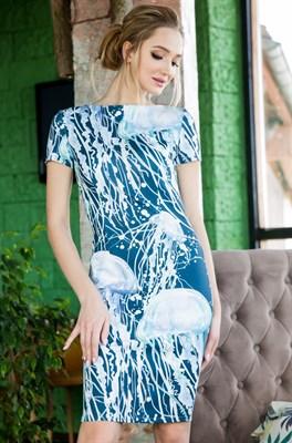 64-08 Платье с красивыми медузами