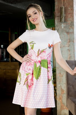64-06 Платье в горошек - фото 6287
