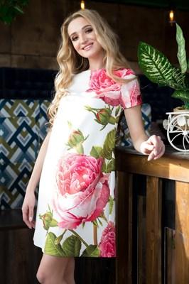 65-07 Платье с розами - фото 6358