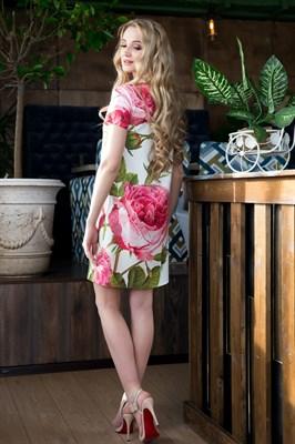 65-07 Платье с розами - фото 6360