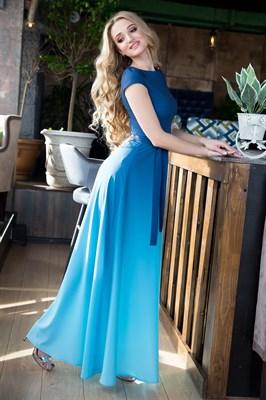 65-03 Платье с градиентом - фото 6380