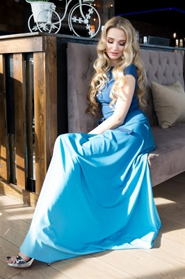 65-03 Платье с градиентом - фото 6382