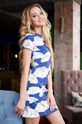66-16 Платье  с зонтиками - фото 6426
