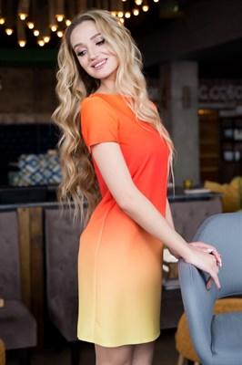 66-09 Платье с градиентом - фото 6468