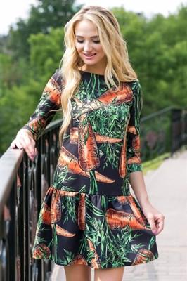 71-10 Платье с морковками