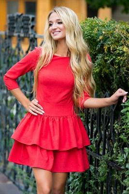 72-01 Красное платье - фото 6920
