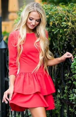 72-01 Красное платье - фото 6921