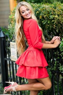 72-01 Красное платье - фото 6922