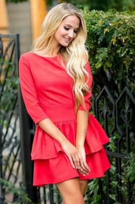 72-01 Красное платье - фото 6923