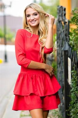 72-01 Красное платье - фото 6924