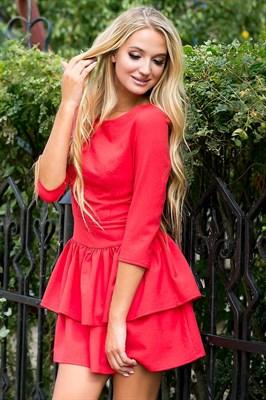 72-01 Красное платье - фото 6926