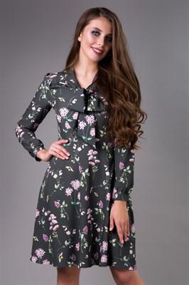 85-10 Платье с бантом - фото 7998