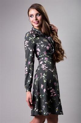 85-10 Платье с бантом - фото 7999