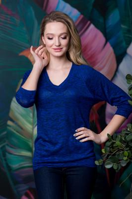 81-09 Блуза из мягкой ткани - фото 8199