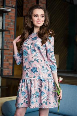 56-03* Платье со сборкой