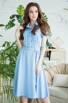 82-09 Голубое платье - фото 8364