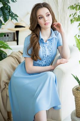 82-09 Голубое платье - фото 8367