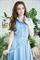 82-09 Голубое платье - фото 8365