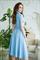 82-09 Голубое платье - фото 8366
